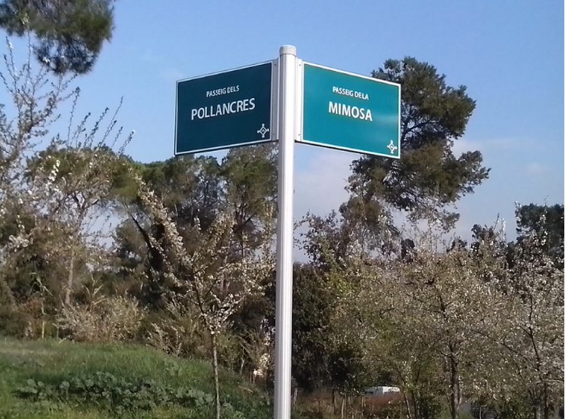 Placa carrer de la Floresta