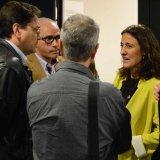 L'alcaldessa Mercè Conesa conversant a la presentació de l'acord per a la reindustrialització de Delphi